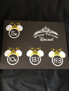 Run Disney Princess Decal by CMe4Ts on Etsy, $5.00