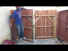 How to build a gate that is sturdy and a Suburban can drive thru. - YouTube