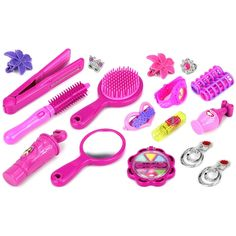 Velocity Toys Pretty Princesses 'C' Pretend Play Toy Fashion Beauty Set with Assorted Hair and Beauty Accessories