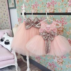 Back in stock!  Princess Aisha Dress in Rose Gold and matching mommy skirt  Shop: http://ift.tt/2bAADo0