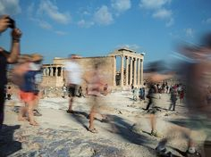 Picture of tourists visiting the Erechtheion in Athens
