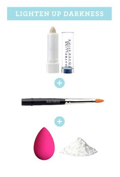 HOW TO CONCEAL DARKNESS AROUND YOUR LIPS    You need: white concealer + concealer brush + latex sponge + loose powder