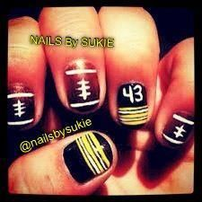 Polamalu + steelers + nails? That must equal awesomeness
