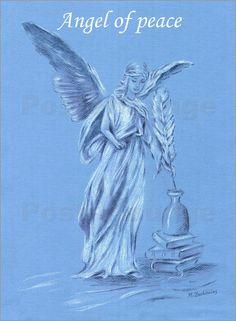 """""""Angel of peace"""" Poster von Marita Zacharias"""