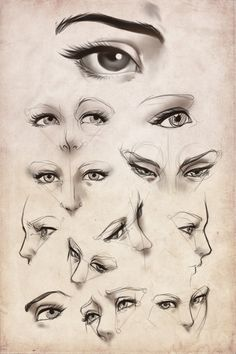 Practice: Female eyes by *Artipelago on deviantART