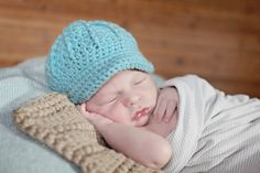 Newsboy Cap, Newborn Photography Props, Baby Hats - Baby Boy Hats - Baby Hats - Baby Hat - Boy Crochet Hats