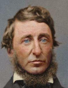 BZNMu4zCYAAAZ90.  Colorized photo of Henry David Thoreau in 1856