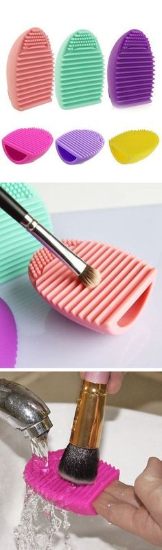 Invest in a good brush cleaner to clean your makeup tools gently but thoroughly.