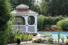 Gazebo by pool - We delivery fully assembled gazebos throughout eastern Ontario and Quebec. Visit us online for fully price list ncsshelters.com