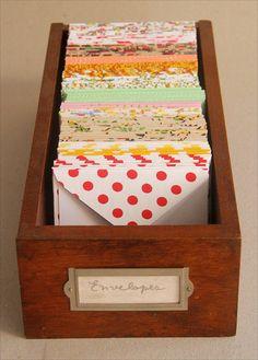 fabric envelopes by Zoopress studio