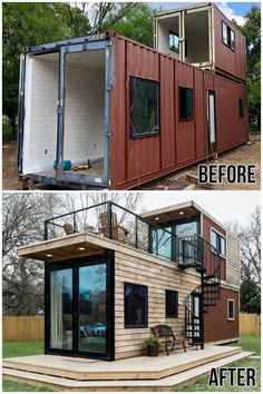 Tiny House Cabin, Tiny House Living, Tiny House Design, Architecture Design, Plans Architecture, Sustainable Architecture, Building A Container Home, Container House Plans, Shipping Container Home Designs