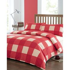 Bedding Product | HOME > Dreams n Drapes Newquay Red Bedding Set