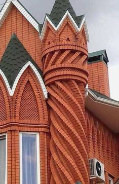 Top Skill of Working with Bricks Russian Architecture, Brick Architecture, Victorian Architecture, Islamic Architecture, Residential Architecture, Amazing Architecture, Architecture Details, Brick Cladding, Brick Facade
