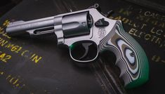 Take your S&W revolvers to the next level with a VZ Grips. G-10 grips that feel rock solid on the gun and they stay put in your hand as you shoot. This is 320 texture in Predator Green with black hardware. Smith And Wesson Revolvers, Smith N Wesson, Predator, Hand Guns, Weapons, Hardware, Texture, Rock, Green