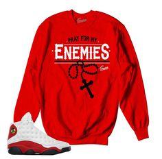 af26fec1b9d377 Jordan 13 True Red Sweater - Enemies - Red