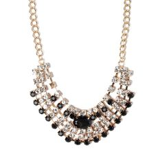 I love the STEPHAN & CO. Crystal Statement Necklace from LittleBlackBag