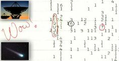 In 1977 an Ohio astronomer looking for alien life spotted a radio signal so strong that he excitedly wrote 'Wow! But it turns out the signals were caused by a pair of comets. Tim Beta, Right Wing, Ancient Aliens, Solar System, Mystery, Writing, Telescope, Mail Online, Daily Mail