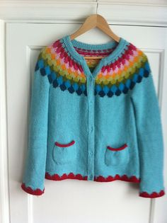This sweater makes me happy just looking at it! Need to make one just like it! :)