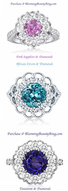 """18 karat white gold """"Lace"""" designer rings with diamonds and precious gemstones Popular Engagement Rings, Beautiful Engagement Rings, Pretty Rings, Beautiful Rings, Best Friend Jewelry, Handmade Rings, Diamond Are A Girls Best Friend, Gold Lace, White Gold"""