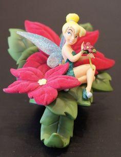 Tinker Bell Poinsettia Resin Christmas Stocking Holder Disney Parks Peter Pan #DisneyParks