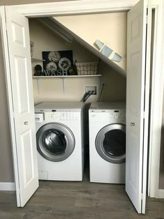 Washer Dryer Under Stairs Laundry Room Design Stairs