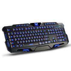 Multimedia Ergonomic Gaming Keyboard Backlight