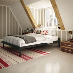 Amisco Attic Dark 54-inch Full-size Bed