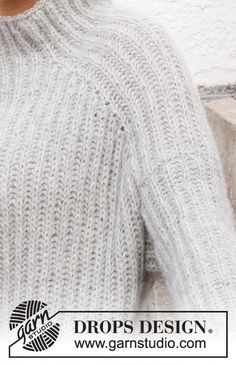 Drops Design, Knitting Books, Free Knitting, Crochet Needles, Knit Crochet, How To Make Braids, Raglan Pullover, Drops Patterns, Easy Knitting Patterns