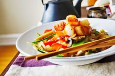 5 Element Stirfry with Scallops from Amanda's Nina Kitchen