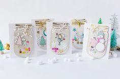 mojosanti : Cute Season's Greeting Cards with Crate Paper I Niedliche Grußkarten für die Weihnachtszeit