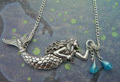 Mermaid Charm Necklace Mermaid Necklace by FairyFountainGifts