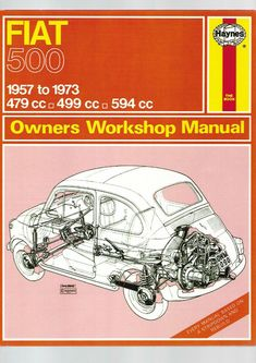 Haynes Classic Fiat 500 Owners Workshop Manual 1957 to 1973 Plastic Trim, Fiat Ducato, Fiat Panda, Owners Manual, Recorded Books, Fiat 500, Repair Manuals, Workshop, Motorcycle