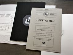 wedding invitation suite : designers Ned Wright and Laura Belle
