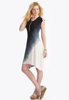 6efaea617f1f7 Cato Fashions Dip Dyed Sharkbite DressPlus  CatoFashions Dip Dyed