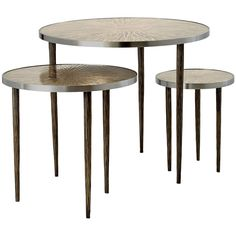 """Astres"" Set of Three Nesting Tables by Franck Chartrain 