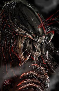 DeviantArt: More Like Alien by kalivana Alien Vs Predator, Predator Movie, Predator Alien, Predator Series, Alien Film, Alien Art, Giger Art, Hr Giger, Alien Origin