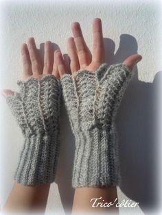 Mitaines au crochet - Mitten Fingerless