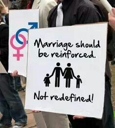 No one can change the truth. God created marriage and the perfect plan for husbands, wives, and families. Real joy only comes from God and living life according to His design.>>>> BiTCh whAt AbOuT siNgLe pArEnTs you FUckTard