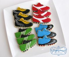 Soccer cleat cookies