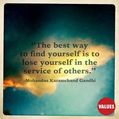 An inspirational quote by Mohandas Karamchand Gandhi from Values.com