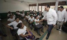 CON EL APOYO PEÑA NIETO, ATENDEMOS  LA DEMANDA EDUCATIVA DE CALIDAD DE QUINTANA ROO: ROBERTO BORGE