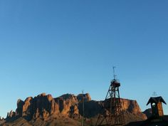 Goldfield Ghost town and superstition mountains in the distance. Nevada