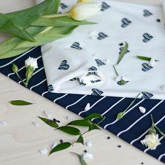 ROMANSSI, navy  | NOSH Fabrics Spring & Summer 2016 Collection - Shop at en.nosh.fi | Kevään 2016 malliston kankaat saatavilla nyt nosh.fi
