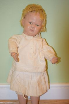 Antique Doll Schoenhut Wood Carved Jointed Child Character