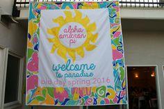 Bid day banner