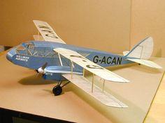 DH84 Dragon for Hillman Airways by Roger Schroeder. #stickntissue #balsa #airplane