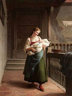 Mother's Joy, Franz Eduard Meyerheim (1838 – 1880, German)