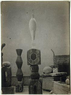 Constantin Brancusi. 'View of the Studio with Maïastra' 1917