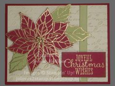 Joyful Christmas Stamp Set from Stampin'Up! - Embossing and Big Shot