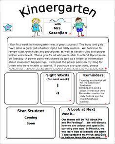 Kinders First: Freebie: Newsletter Template within Kindergarten ...